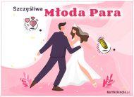 eKartki Ślubne Szczęśliwa Młoda Para,
