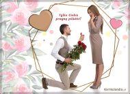 eKartki elektroniczne z tagiem: Para Młodych Tylko Ciebie pragnę poślubić!,