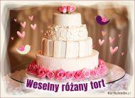 eKartki   Weselny różany tort,