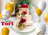 eKartki elektroniczne z tagiem: Para Młodych Wyjątkowy weselny tort,