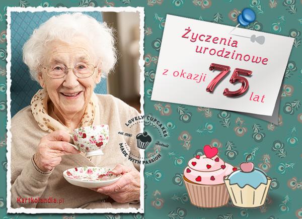 Życzenia urodzinowe na 75