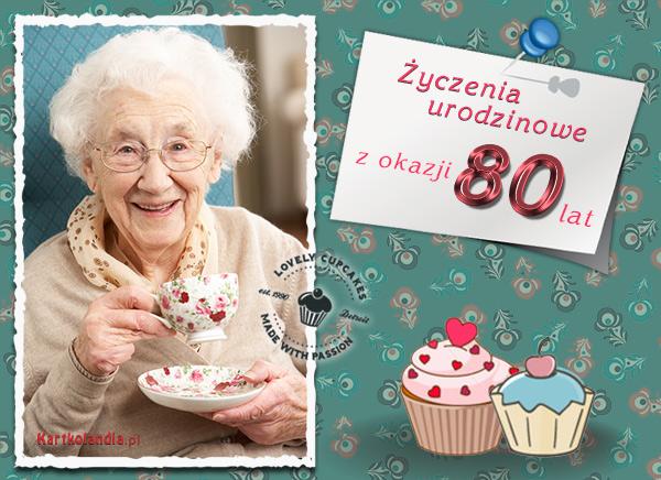 Życzenia urodzinowe na 80