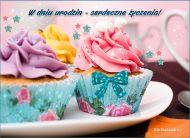 eKartki Urodzinowe Pastelowe muffinki,