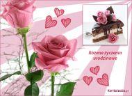 eKartki Urodzinowe Różane urodziny,