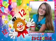 eKartki elektroniczne z tagiem: 2 urodziny W dniu 12 urodzin,