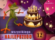 eKartki elektroniczne z tagiem: 12 urodziny Wszystkiego najlepszego,