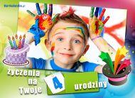 eKartki elektroniczne z tagiem: 4 urodziny ¯yczenia na czwarte urodziny,