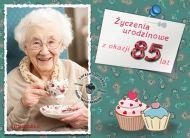 eKartki Urodzinowe Życzenia urodzinowe na 85,