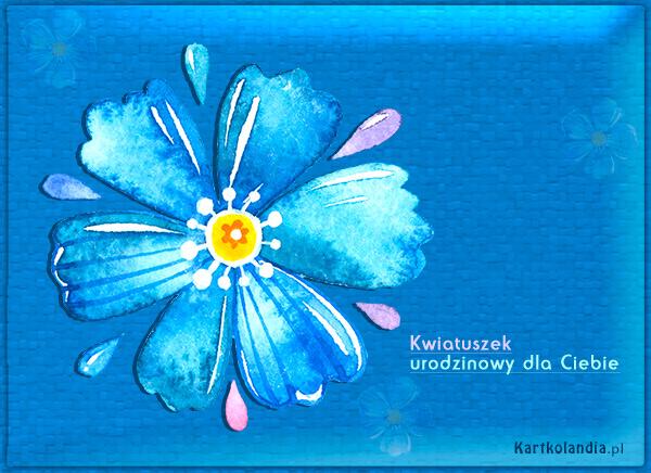 Kwiatuszek urodzinowy