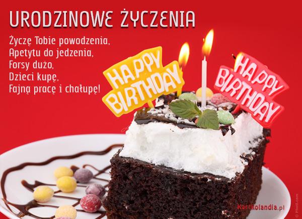 Kartka Urodzinowe, Kartka elektroniczna, Urodzinowe yczenia