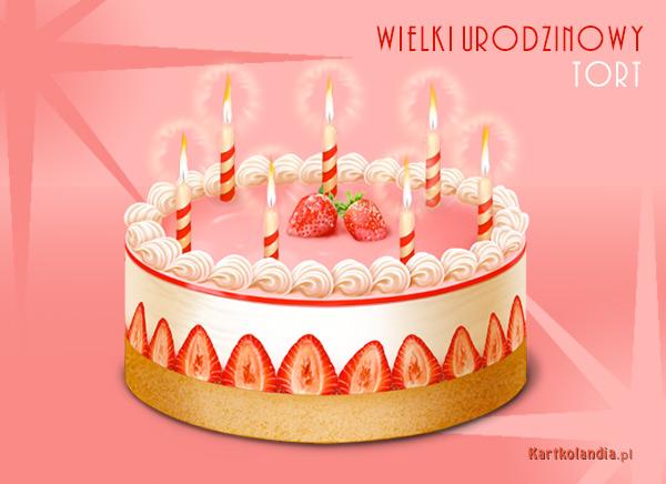 Wielki urodzinowy tort