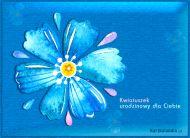 eKartki Urodzinowe Kwiatuszek urodzinowy,