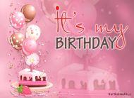 eKartki elektroniczne z tagiem: 1 urodziny Moje Urodziny,