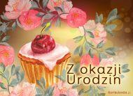 eKartki elektroniczne z tagiem: Darmowe kartki urodzinowe Muffinka na Urodziny,