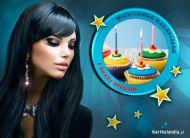 eKartki elektroniczne z tagiem: Darmowe kartki urodzinowe Muffinki urodzinowe,