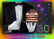 eKartki elektroniczne z tagiem: 30 urodziny Tort urodzinowy dla Ciebie,
