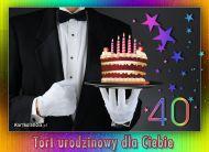 eKartki elektroniczne z tagiem: 40 urodziny Tort urodzinowy dla Ciebie,