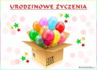 eKartki Urodzinowe Urodzinowe balony,