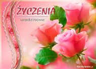 eKartki elektroniczne z tagiem: Darmowe kartki urodzinowe Urodzinowe róże,