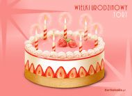 eKartki Urodzinowe Wielki urodzinowy tort,