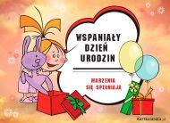 eKartki Urodzinowe Wspania³y Dzieñ Urodzin,