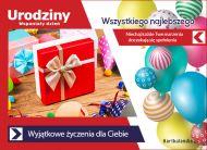 eKartki elektroniczne z tagiem: Darmowe kartki urodzinowe Wyjątkowe życzenia,