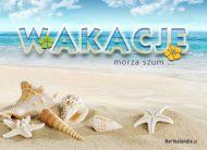 eKartki elektroniczne z tagiem: Pozdrowienia z wakacji Letni morza szum,