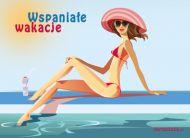 eKartki elektroniczne z tagiem: Pozdrowienia z wakacji Wspania³e wakacje,