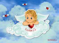 eKartki Mi³o¶æ - Walentynki Anielskie uczucie,