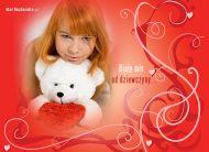 eKartki Miłość - Walentynki Biały miś od dziewczyny,