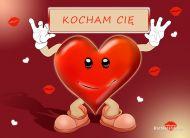 eKartki Mi³o¶æ - Walentynki Kartka serce,