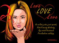 eKartki Miłość - Walentynki Pocałunek,