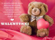 eKartki Miłość - Walentynki Słodki miś,