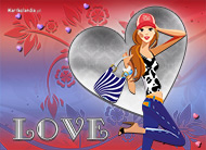 eKartki Miłość - Walentynki Szczęśliwa z miłości,