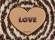 eKartki Miłość - Walentynki Miłość z kawową nutką,