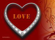 eKartki Miłość - Walentynki Srebrne serduszko,