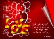eKartki Miłość - Walentynki Szaleję za Tobą,