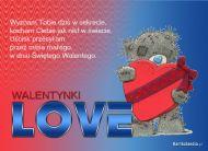 eKartki Miłość - Walentynki Mały miś,