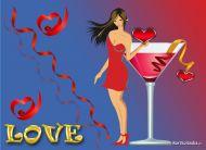 eKartki Mi³o¶æ - Walentynki Mi³osny drink,