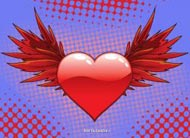 eKartki Miłość - Walentynki Skrzydlata miłość,