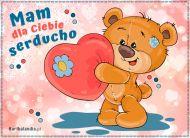 eKartki elektroniczne z tagiem: Darmowe kartki miłość Mam dla Ciebie serducho,
