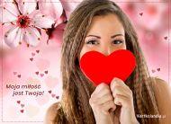 eKartki elektroniczne z tagiem: Darmowe kartki miłość Moja miłość jest Twoja,