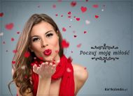 eKartki elektroniczne z tagiem: Darmowe kartki miłość Poczuj moją miłość!,