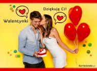 eKartki elektroniczne z tagiem: Darmowa e-Kartka na walentynki Dziękuję Ci za Walentynkę,