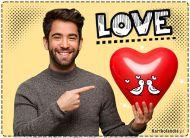 eKartki elektroniczne z tagiem: Darmowa e-Kartka na walentynki Love,