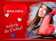 eKartki Miłość - Walentynki Moje serce należy do Ciebie,