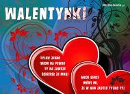 eKartki Miłość - Walentynki Nasze serca dwa,