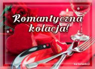 eKartki elektroniczne z tagiem: Zaproszenia na kolację Romantyczna kolacja,