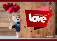 eKartki elektroniczne z tagiem: Darmowa e-Kartka na walentynki Walentynkowy miś,