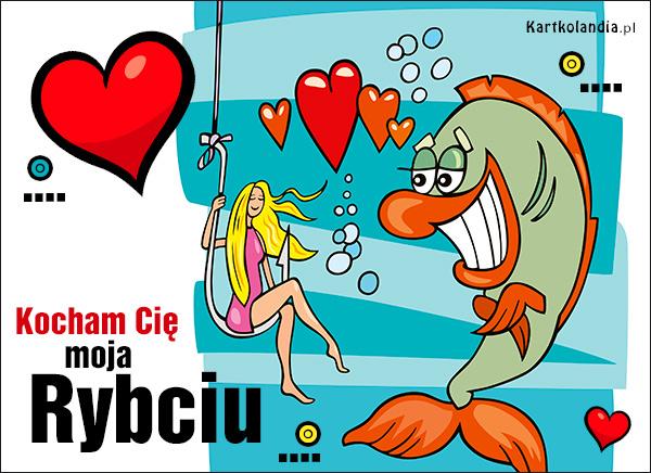 eKartki Miłość - Walentynki Kocham Cię moja Rybciu!,